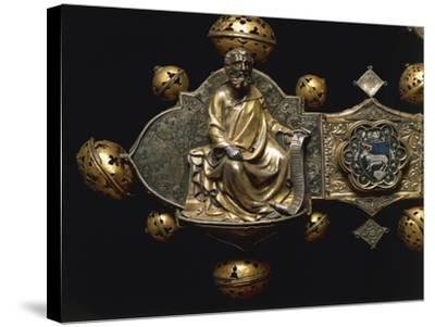 Processional Cross of Saint Maximus, in Silver, Enamel and Copper--Stretched Canvas Print
