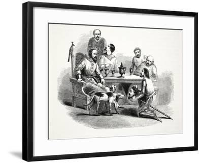 The Head of Llewelyn Brought to Edward at Conway Castle, Pub. 19th Century--Framed Giclee Print