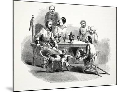 The Head of Llewelyn Brought to Edward at Conway Castle, Pub. 19th Century--Mounted Giclee Print