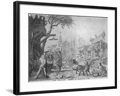The Chevaliers Market, or Highland Fair, Published by George Bickham the Younger, 1745--Framed Giclee Print