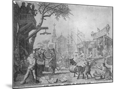 The Chevaliers Market, or Highland Fair, Published by George Bickham the Younger, 1745--Mounted Giclee Print