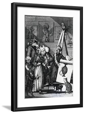 The Painter Submitting His Picture to the Examination of Connoisseurs and Antiquarians, 1774--Framed Giclee Print