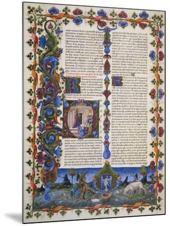 The End of Book of Solomon, from Volume I of Bible of Borso D'Este, Illuminated by Taddeo Crivelli--Mounted Giclee Print