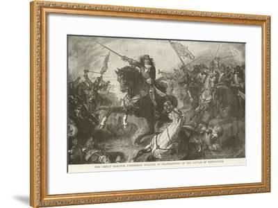 The Great Elector Frederick William of Brandenburg in the Battle of Fehrbellin--Framed Giclee Print