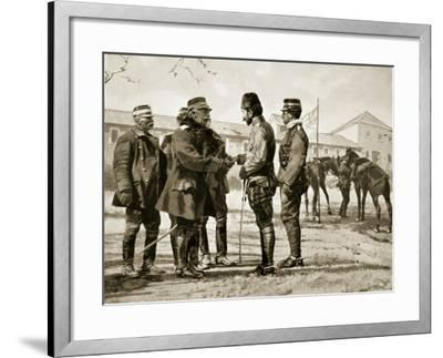The Surrender of Yanina, 1913, Illustration from 'Hutchinson's History of the Nations', 1915--Framed Giclee Print