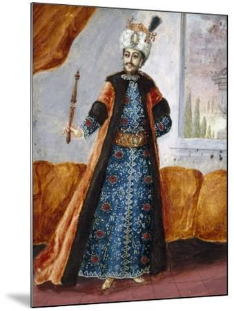 Actor in Oriental Costume in Role of Suleiman, Character from Opera Comique by Charles Simon Favart--Mounted Giclee Print