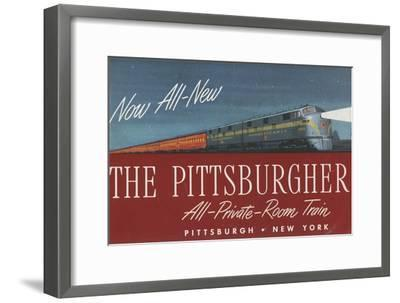 The Pittsburgher', Advertisement for the Pennsylvania Railroad Company, C.1948--Framed Premium Giclee Print