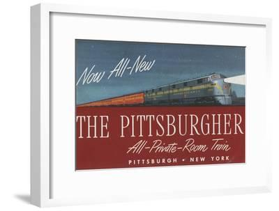 The Pittsburgher', Advertisement for the Pennsylvania Railroad Company, C.1948--Framed Giclee Print