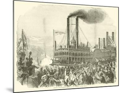 """Opening of the Mississippi, Arrival of the """"Imperial"""" at New Orleans, July 1863--Mounted Giclee Print"""