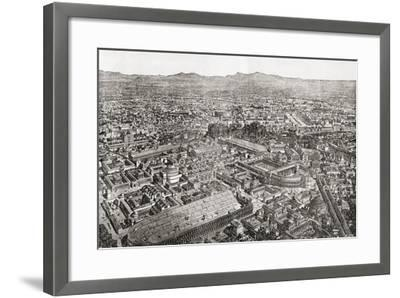 A General View of Rome, Italy as it Would Have Appeared in the Time of Aurelian--Framed Giclee Print
