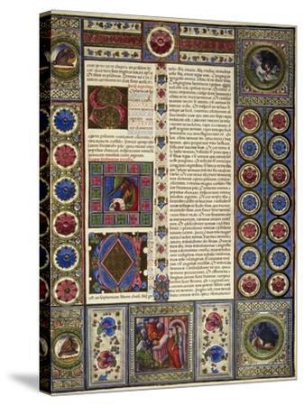 Incipit from Book of Micah, from Volume II of Bible of Borso D'Este--Stretched Canvas Print