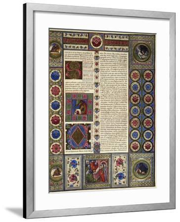 Incipit from Book of Micah, from Volume II of Bible of Borso D'Este--Framed Giclee Print