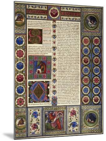 Incipit from Book of Micah, from Volume II of Bible of Borso D'Este--Mounted Giclee Print
