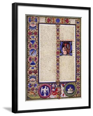 Incipit from Book of Sirach, from Volume I of Bible of Borso D'Este--Framed Giclee Print