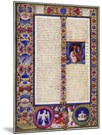 Incipit from Book of Sirach, from Volume I of Bible of Borso D'Este--Mounted Giclee Print