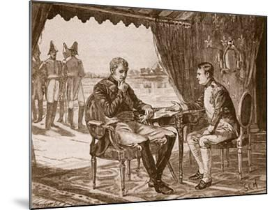 The Treaty of Tilsit, 1807, Illustration from 'Cassell's Illustrated History of England'--Mounted Giclee Print