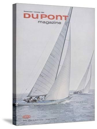 Sails for All Sailors, Front Cover of 'The Du Pont Magazine', September-October 1964--Stretched Canvas Print