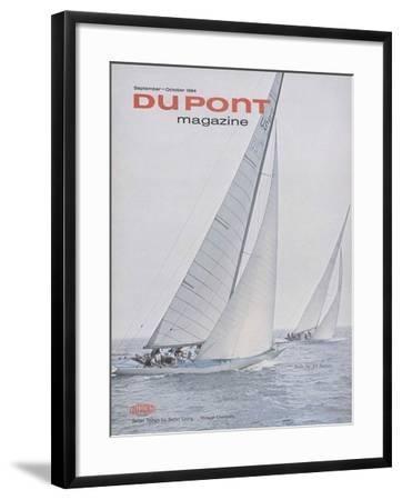 Sails for All Sailors, Front Cover of 'The Du Pont Magazine', September-October 1964--Framed Giclee Print