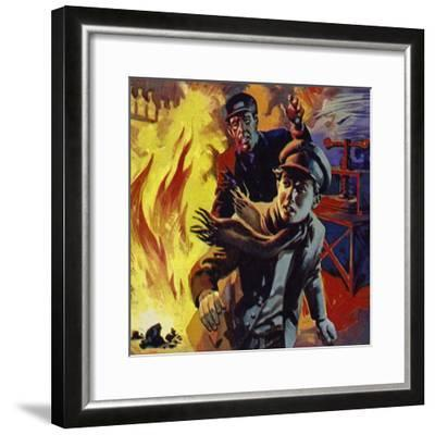 Edison Sold Newspapers on Trains; One Day He Accidentally Set a Carriage on Fire--Framed Giclee Print