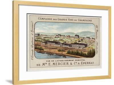 Principal Establishment of E Mercier and Co, Champagne Producers, Epernay, France--Framed Giclee Print