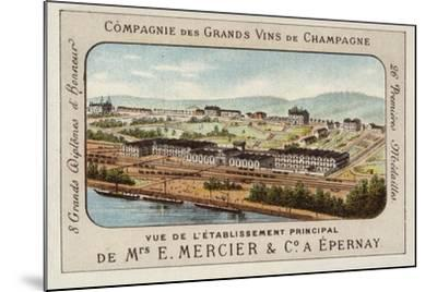 Principal Establishment of E Mercier and Co, Champagne Producers, Epernay, France--Mounted Giclee Print