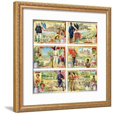 Colonies of the European Powers - France, Belgium, Italy, England, Holland and Germany, 1910--Framed Giclee Print
