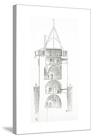 Drawing from 'Dictionnaire Raisonné De L'Architecture Française Du XIe Au XVIe Siècle', 1861--Stretched Canvas Print