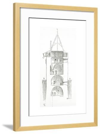Drawing from 'Dictionnaire Raisonné De L'Architecture Française Du XIe Au XVIe Siècle', 1861--Framed Giclee Print