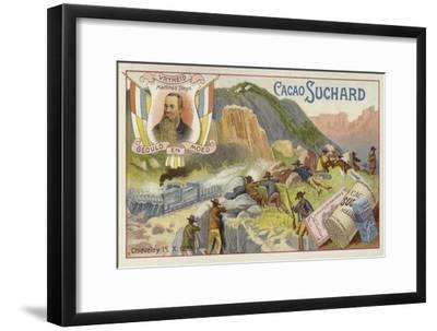 Boers Attacking a British Armoured Train, Chieveley, South Africa, Boer War, 15 October 1899--Framed Giclee Print