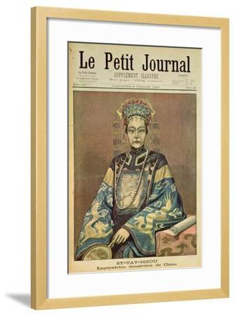 Sy-Tay-Heou, Empress of China, Title Page from 'Le Petit Journal', 8 July 1900--Framed Giclee Print