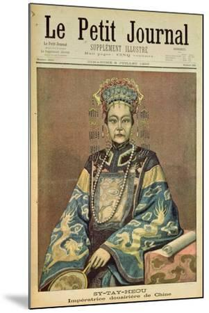 Sy-Tay-Heou, Empress of China, Title Page from 'Le Petit Journal', 8 July 1900--Mounted Giclee Print
