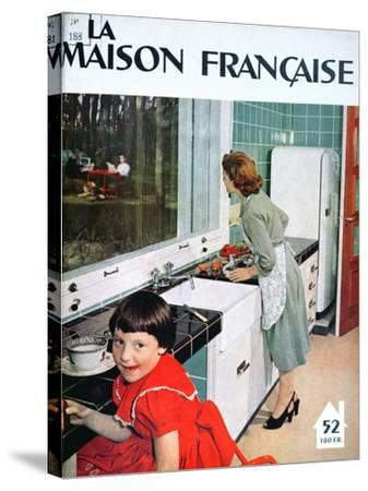 Advertisement for a Kitchen, from 'La Maison Francaise', Front Cover, November 1951--Stretched Canvas Print