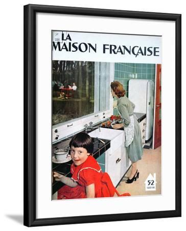Advertisement for a Kitchen, from 'La Maison Francaise', Front Cover, November 1951--Framed Giclee Print