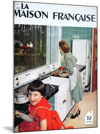 Advertisement for a Kitchen, from 'La Maison Francaise', Front Cover, November 1951--Mounted Giclee Print