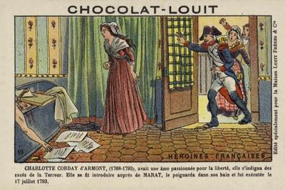 Charlotte Corday, Assassin of French Revolutionary Leader Jean-Paul Marat, 1793--Framed Giclee Print