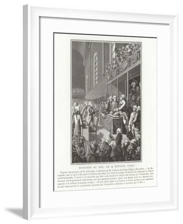 Speech by King Louis XVI of France to the National Assembly, French Revolution, 4 February 1790--Framed Giclee Print