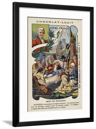 Death of Charles Louis, Vicomte De Couedic, Commander of the French Frigate La Surveillante, 1780--Framed Giclee Print