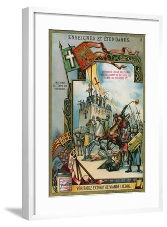 Carroccio on a Battlefield of the Time of Frederick I Barbarossa, 12th Century--Framed Giclee Print