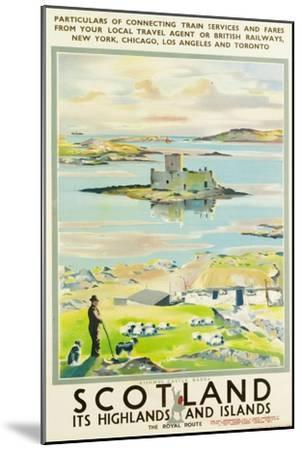 Scotland, Kishmul Castle Isle of Barra, Poster Advertising British Railways, 1952--Mounted Premium Giclee Print
