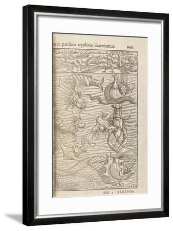 Page 1005 from 'Cosmographiae Universalis' by Sebastian Muenster, Basel, 1572--Framed Giclee Print