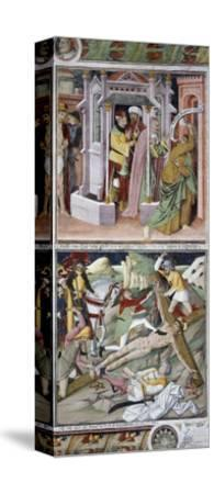 Remorse of Judas and Crucifixion-Giovanni Canavesio-Stretched Canvas Print