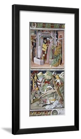 Remorse of Judas and Crucifixion-Giovanni Canavesio-Framed Giclee Print