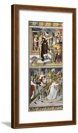Ecce Homo and Jesus Carrying Cross-Giovanni Canavesio-Framed Giclee Print