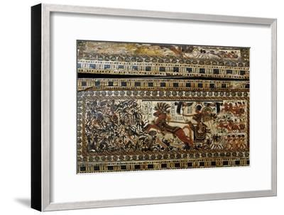 Tutankhamun in Battle, Detail from Painted Casket from Tomb of Tutankhamun--Framed Giclee Print