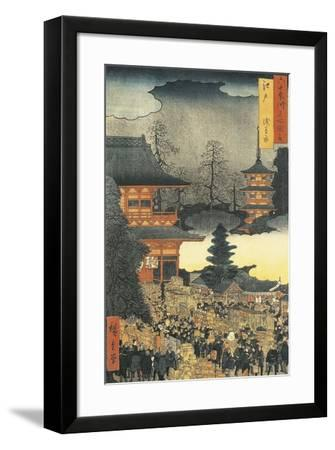 New Year's Eve Party in Asakusa, in the City of Edo, by Ando Hiroshige-Ando Hiroshige-Framed Giclee Print