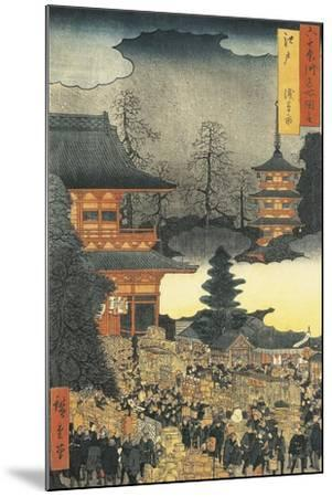 New Year's Eve Party in Asakusa, in the City of Edo, by Ando Hiroshige-Ando Hiroshige-Mounted Giclee Print