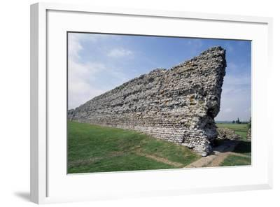 Ruins of the Northern Wall, Richborough Roman Fort, Kent, England, United Kingdom--Framed Giclee Print