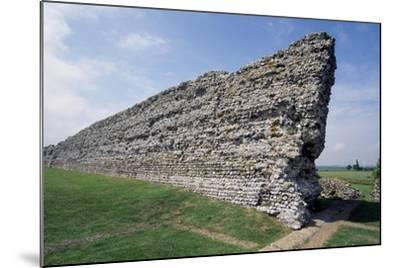 Ruins of the Northern Wall, Richborough Roman Fort, Kent, England, United Kingdom--Mounted Giclee Print
