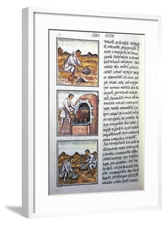 Gold Processing by Spanish-Bernardino De Sahagun-Framed Giclee Print
