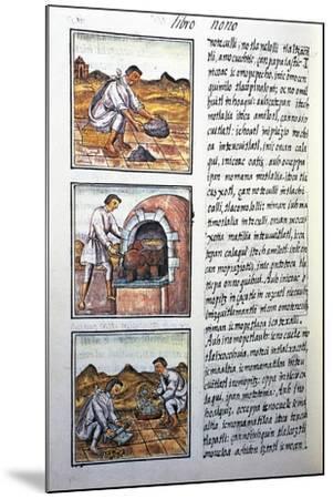 Gold Processing by Spanish-Bernardino De Sahagun-Mounted Giclee Print